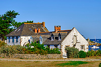 France, Manche (50), îles Chausey, Grande Ile, maison du peintre Marin-Marie // France, Normandy, Manche department, Chausey isands, Grande Ile, house of painter Marin-Marie