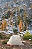 Backcountry Camp at Stiletto Lake, North Cascades National Park Washington