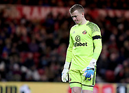 Jordan Pickford of Sunderland during the English Premier League match at Riverside Stadium, Middlesbrough. Picture date: April 26th, 2017. Pic credit should read: Jamie Tyerman/Sportimage