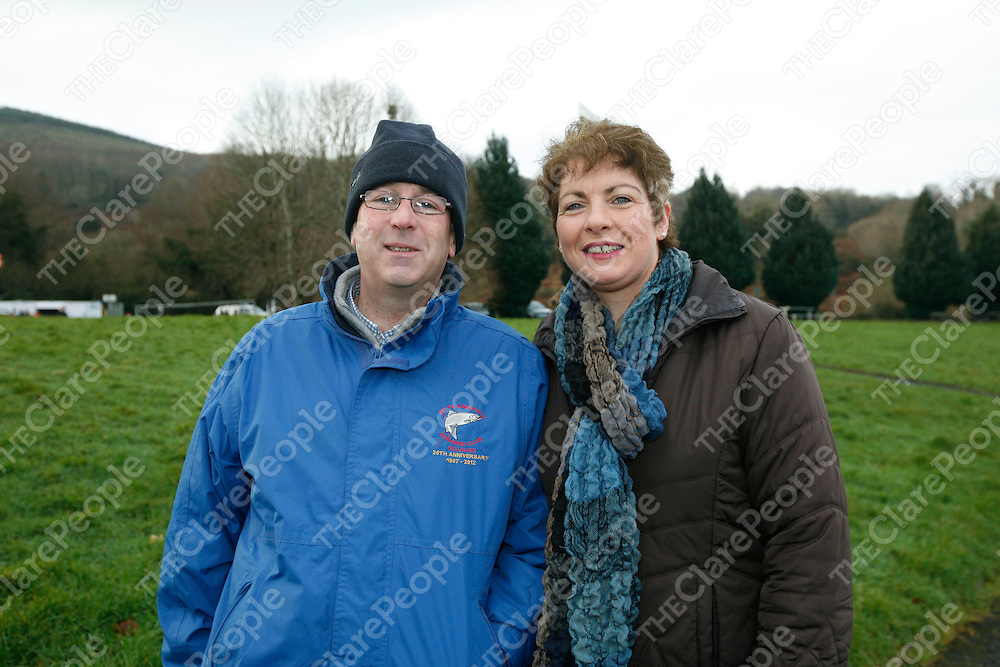 Pat and Carmel O'Riordan pictured at the Christmas day swim at twomilegate, Killaloe, Co Clare. In aid of the Alzheimer Society of Ireland. Picture:Marie McCallan/Press 22