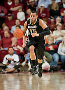 Nov 16, 2011; Fayetteville, AR, USA;  Oakland Grizzlies forward Drew Valentine (15) dribbles the ball during a game against the Arkansas Razorbacks at Bud Walton Arena. Arkansas defeated Oakland 91-68. Mandatory Credit: Beth Hall-US PRESSWIRE