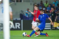 Fotball<br /> EM U21 Israel<br /> 11.06.2013<br /> Norge v Italia 1:1<br /> Foto: VI Images/Digitalsport<br /> NORWAY ONLY<br /> <br /> (L-R) Yann-Erik de Lanlay of Norway U21, Marco Capuano of Italy U21 during the UEFA U21 Championship match between Norway U21 and Italy U21 on June 11, 2013 at the Bloomfield stadium in Tel Aviv, Israel.