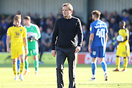 AFC Wimbledon manager Neal Ardley walking off the pitch during the EFL Sky Bet League 1 match between AFC Wimbledon and Oxford United at the Cherry Red Records Stadium, Kingston, England on 29 September 2018.