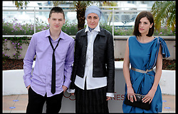 LTOR Ismir Gagula, Aida Begic and Marija Pikic  pose's for Photographers during the Photocall for the film Djeca  during 65th Annual Cannes Film Festival at Palais des Festivals, Cannes, France, Monday May 21, 2012. Photo by Andrew Parsons/i-Images