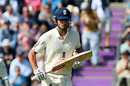 Alastair Cook of England, who retiring at the end of the series, during the first day of the 4th SpecSavers International Test Match 2018 match between England and India at the Ageas Bowl, Southampton, United Kingdom on 30 August 2018.