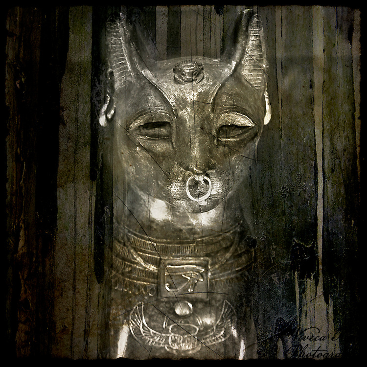 Egyptian cat figure from the British Museum, London