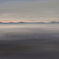 Moody Morro Bay. Plein air oil sketch, 9 x 12.