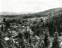 1929 Looking west from Hollywood Hills just west of La Brea Ave.