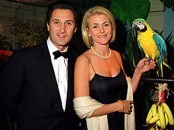 MR RAFFAELE MINCIONE and his fiancee MRS NINA JUNOT, she is the former wife of Phillipe Junot ex husband of Princess Caroline of Monaco, at a ball in London on 7th November 1999.MYP 39