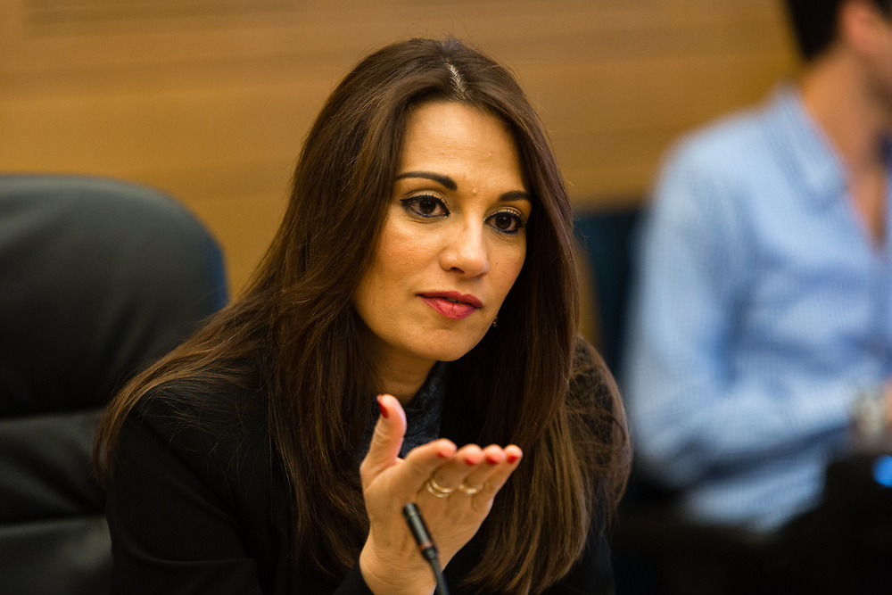 Israeli lawmaker, Member of the Knesset Yifat Shasha-Biton  at the Knesset, Israel's parliament in Jerusalem, on December 12, 2016.