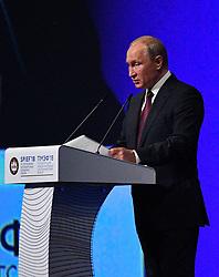 Russian President Vladimir Putin attending a session of the Saint Petersburg International Economic Forum on May 25, 2018 in Saint Petersburg.Photo by Christian Liewig/ABACAPRESS.COM
