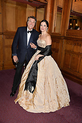 BRYAN FERRY and OLGA BALAKLEETS at the 10th anniversary Gala of the Russian Ballet Icons at the London Coliseum, St.Martin's Lane, London on 8th March 2015.