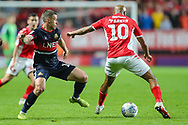 Doncaster Rovers midfielder Tommy Rowe (10) and Charlton Athletic midfielder Josh Parker (10) during the EFL Sky Bet League 1 second leg Play-Off match between Charlton Athletic and Doncaster Rovers at The Valley, London, England on 17 May 2019.
