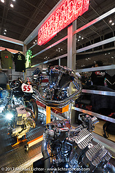 Sundance Motorcycles display at the 26th Annual Yokohama Hot Rod and Custom Show 2017. Yokohama, Japan. Sunday December 3, 2017. Photography ©2017 Michael Lichter.
