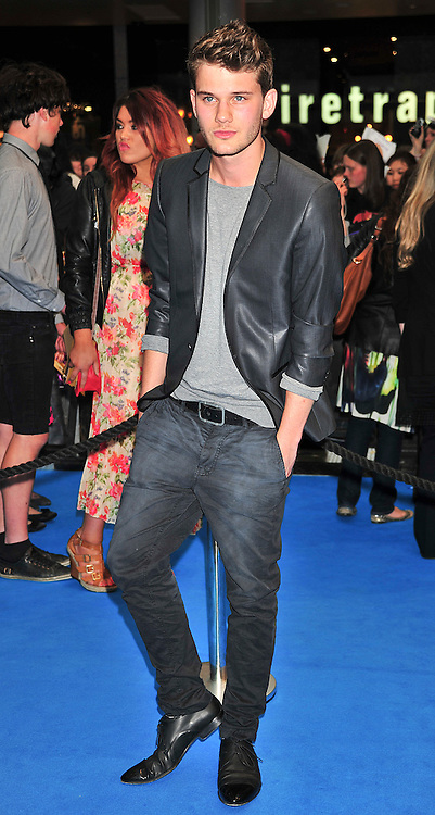 """© licensed to London News Pictures. London, UK  12/05/11 Jeremy Irvine  attends the UK premiere of Pirates of the Carribean 4 """"on Stranger Tides"""" at Londons Westfield . Please see special instructions for usage rates. Photo credit should read AlanRoxborough/LNP"""