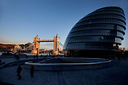 City Hall and the Scoop near to Tower Bridge. Home to the Mayor of London and local politics.
