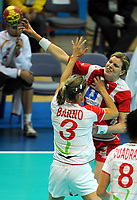 Håndball , 20. desember 2009 , Norge - Spania , Bronse-finale , hvor nordk tok 3. plassen<br /> World Cup China Game to square 3 Spain Norway 20 28 Tonje Larsen , Norge<br /> <br /> Norway only