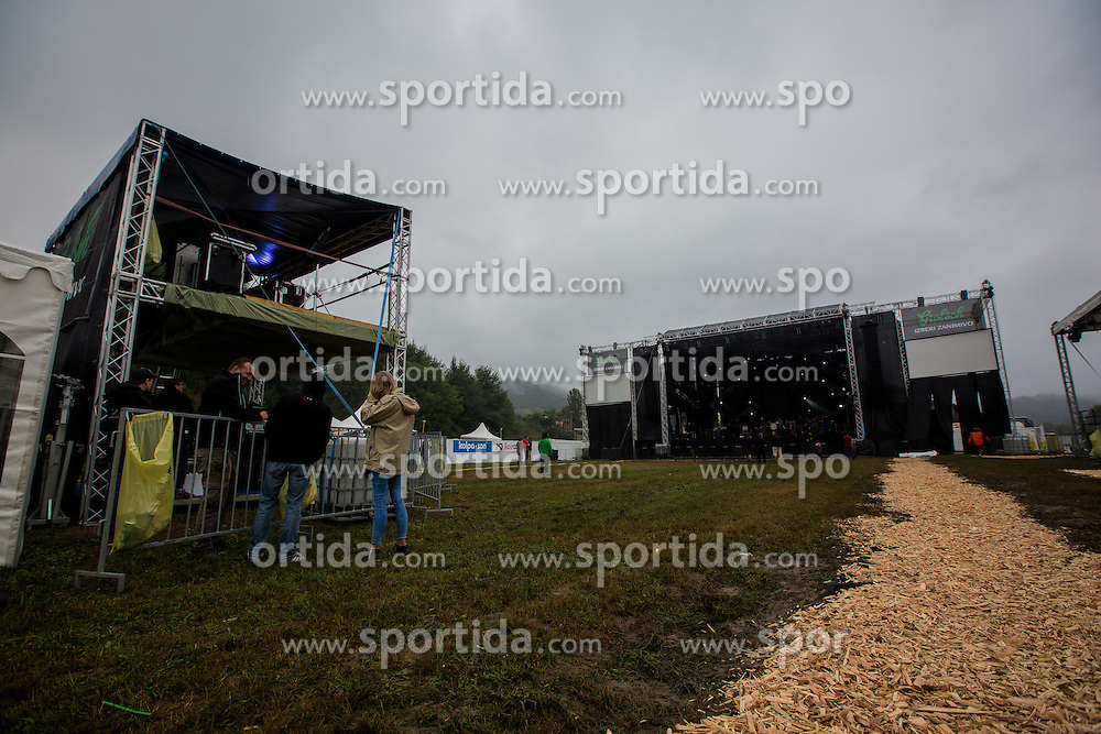 Main stage at music festival Schengen fest, 30. July / 1. August in Vinica, Slovenia.  Photo by Grega Valancic / Sportida