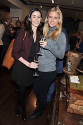 Left to right, EMILY STUBBS and GEORGIA FORBES at the Lewa Wildlife Conservancy debate held at Patrick Mavros, 104-106 Fulham Road, London on 21st November 2012.