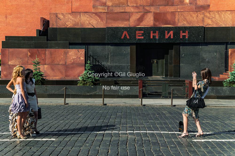 Russie, Moscou, dans enceinte du Kremlin, Mausolée de Lénin sur la Place Rouge // Russia , Moscow, in the Kremlin, Lenin mosole on Red Square