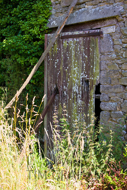 Old barn at St Germain Des Vaux in Normandy, France