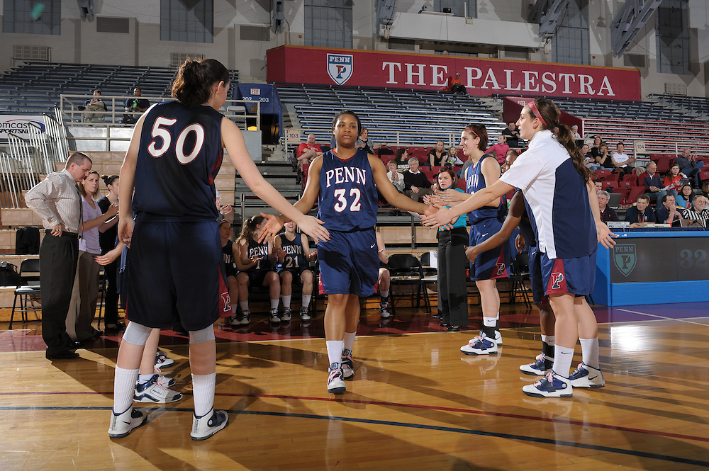 PHILADELPHIA, PA - MARCH 5:  of the Penn Quakers during the game against Dartmouth at the Palestra on March 5, 2011 in Philadelphia, Pennsylvania. (Photo by Drew Hallowell)  *** Local Caption ***