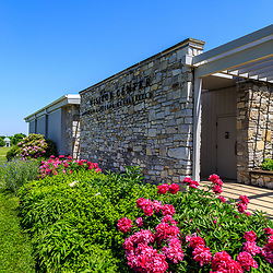 Sharpsburg, MD, USA - May 23, 2018: The National Park Service Antietam National Battlefield Visitor Center is located at the battlefield.