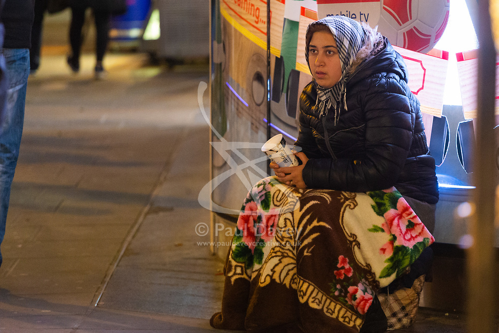 Homeless Britons are coming under increasing pressure as a surge of Roma beggars from Romania arrive on the streets of London to take advantage of the generosity of Christmas shoppers. London, December 04 2018.