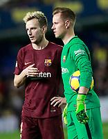 FC Barcelona's Ivan Rakitic (l) and Marc-Andre Ter Stegen during La Liga match. December 10,2017. (ALTERPHOTOS/Acero)