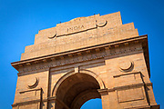 India Gate on a clear day, part of the  ceremonial axis, British India Army memorial, New Delhi