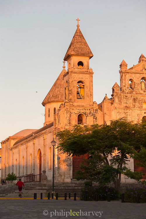 View of the exterior of an old church, Guadalupe Church, Granada, Nicaragua