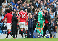 Ryan Giggs consoles David De Gea of Manchester United - Barclays Premier League - Manchester City vs Manchester Utd - Etihad Stadium - Manchester - England - 2nd November 2014  - Picture David Klein/Sportimage