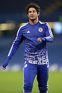 Alexandre Pato of Chelsea during post match warm down. The Emirates FA Cup, 5th round match, Chelsea v Manchester city at Stamford Bridge in London on Sunday 21st Feb 2016.<br /> pic by John Patrick Fletcher, Andrew Orchard sports photography.