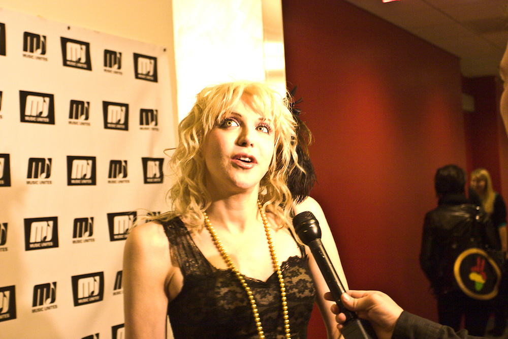 Ruprecht Studios Twin Souls Premier with Sting and Trudy and Courtney Love
