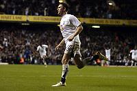 Photo: Olly Greenwood.<br />Tottenham Hotspur v Club Brugge. UEFA Cup. 02/11/2006. Spurs Robbie Keane celebrates scoring