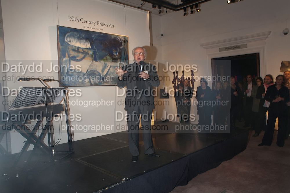 MICHAEL ATTENBOROUGH, Preview of  Lord and Lady Attenborough art works  at SothebyÕs. Donation from the evening to be made to RADA. New Bond St. London. 9 November 2009<br /> MICHAEL ATTENBOROUGH, Preview of  Lord and Lady Attenborough art works  at Sotheby's. Donation from the evening to be made to RADA. New Bond St. London. 9 November 2009