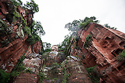 The giant Buddha (Chinese: 樂山大佛 ; Lèshān Dàfó) is seen in Leshan, China, August 09, 2014.<br /> <br /> Confucianism, Taoism and Buddhism are the three major religions in China. Temples and statues witness their ancient roots all over the Chinese country.<br /> <br /> © Giorgio Perottino