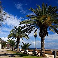 Europe, Portugal, Madeira. Harbor promenade in Funchal.