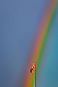 Regnbogen, tatt i Brønnøysund.