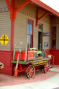 Historic train station.  Black Hills South Dakota USA