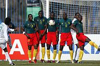 Fotball<br /> African Nations Cup<br /> Foto: Digitalsport<br /> Norway Only<br /> <br /> 1/4 FINAL - 040208<br /> NIGERIA v KAMERUN<br /> <br /> GOAL AUGUSTIN OKOCHA (NIG) / KAMERUN WALL)