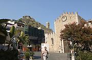 Palazzo Duchi di Santo Stefano, in front of the Duomo, Taormina, sicily, Italy, July 2006