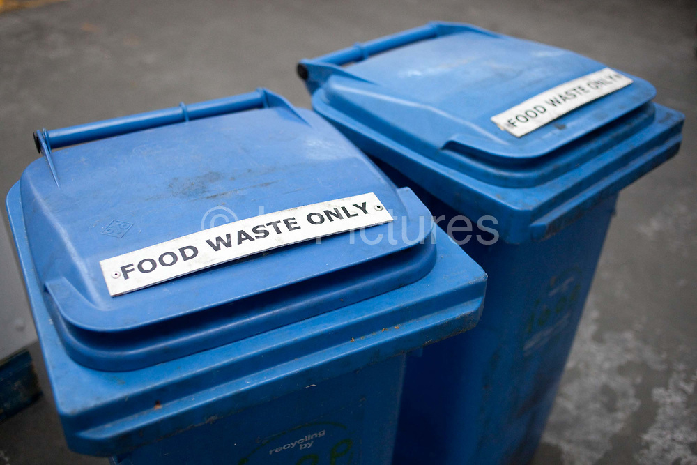 Food waste bins. Fareshare is a small charity in London that uses food from supermarkets that would otherwsie be wasted, and distributes it to those in need, working in collaboration with food banks and community groups in London.