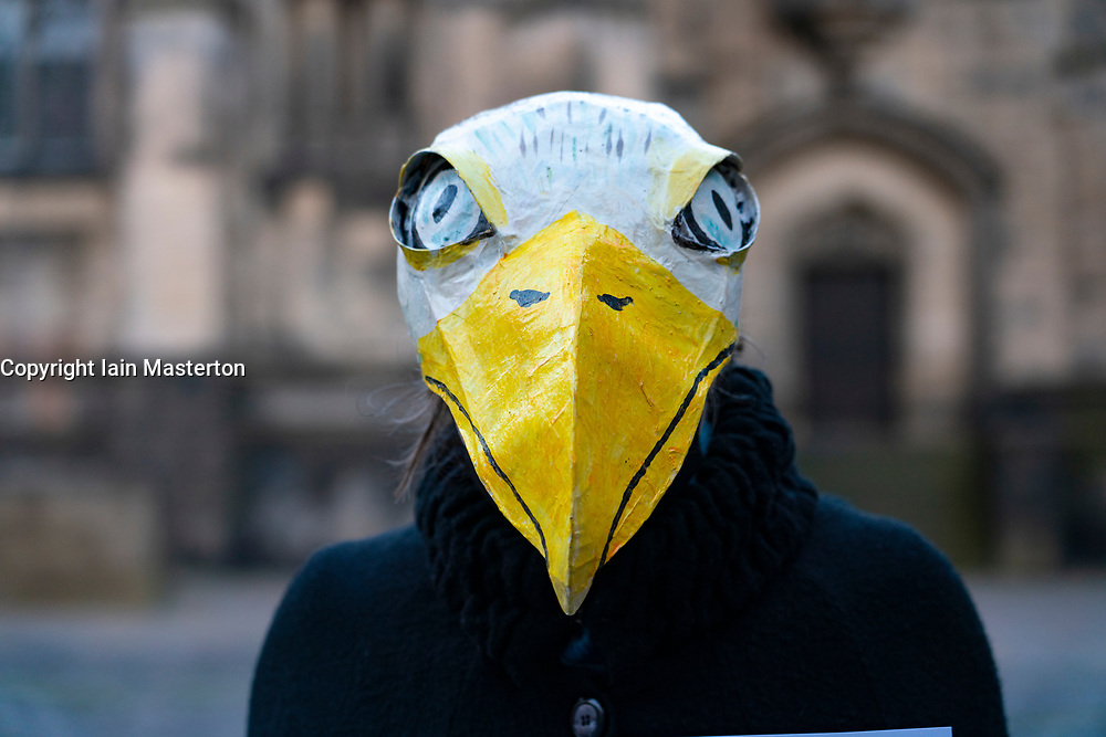 Edinburgh,Scotland, UK. 31 October 2020. Extinction Rebellion, the climate and wildlife campaign group, staged a demonstration outside St Giles Cathedral to protest at the increasing numbers of wildlife species that are dwindling in numbers and some that are approaching extinction.The protesters then marched to the Scottish Parliament. Iain Masterton/Alamy Live News