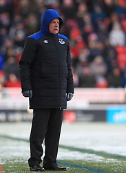 Everton manager Sam Allardyce during the Premier League match at the bet365 Stadium, Stoke.