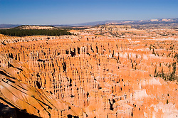 Bryce Canyon National Park, Rock formations, hoodoos of Silent City and ampitheater from Bryce Point, grottos on left, erosion, sunrise, arid, Utah, UT, Southwest America, American Southwest, US, United States, Image ut354-18159, Photo copyright: Lee Foster, www.fostertravel.com, lee@fostertravel.com, 510-549-2202