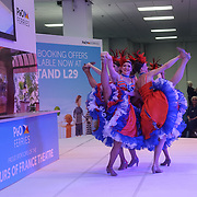 London, England, UK: 26th Jan 2018: Visitors attend The France Show 2018 at Kensington Olympia London. All types of french life were on display at the France Show. Promotes various holiday destination, food and drink companies had stood with samples for people to try at Kensington Olympia.