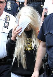 May 24, 2013 - New York City, NY, USA - Actress amanda Bynes leaves the Central Criminal Court following her arrest for criminal possession of marijuana, felony tampering with evidence, and reckless endangerment after throwing a bong out the window of her apartment building on May 24 2013 in New York City  (Credit Image: © John Peters/Ace Pictures/ZUMAPRESS.com)