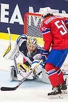 Ishockey<br /> VM 2015<br /> 04.05.2015<br /> Norge v Finland<br /> Foto: imago/Digitalsport<br /> NORWAY ONLY<br /> <br /> Goalie Pekka Rinne (FIN) makes a save.