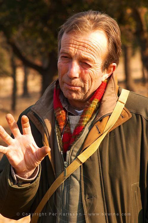 Eric Jaumard, the truffle hunter at La Truffe de Ventoux truffle farm, Vaucluse, Rhone, Provence, France
